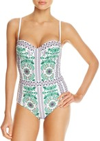 Tory Burch Garden Party Underwire One Piece Swimsuit