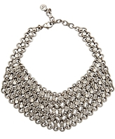 Ben Amun Link Bib Necklace: Silver
