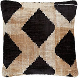 Madeline Weinrib Foxtrot Ikat Pillow-BLACK