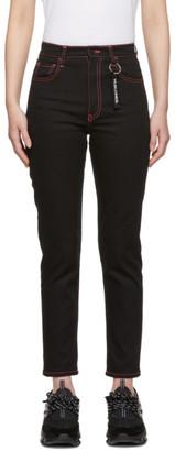 Marcelo Burlon County of Milan Black Raw Wash Vi.si.ones Slim Jeans