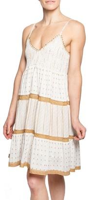 Area Stars Knee Length Embroidered Dress - Bahia