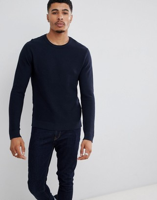 Jack and Jones Essentials crew neck sweater in texture