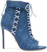 Oscar Tiye Denim Sami T Booties in Blue.