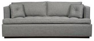 "Maxwell Tuxedo Arm Sofa Bed Duralee Furniture Body Fabric: Gray, Size: 75"" W"