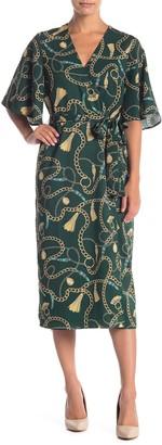 Alexia Admor Angela Belted Wrap Midi Dress