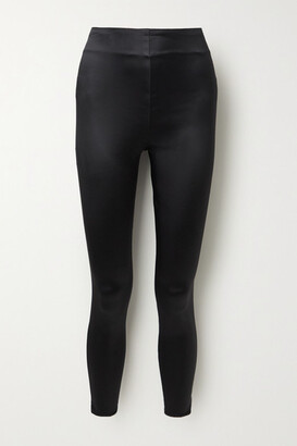 L'Agence Arrow Stretch-satin Skinny Pants