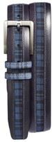 Mezlan Men's 'Diver' Printed Calfskin Leather Belt
