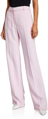 Rosetta Getty Pintucked Straight-Leg Trousers