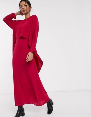 Verona maxi dress with draped layer
