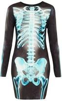 Topshop 'X-Ray Skeleton' Print Body-Con Dress