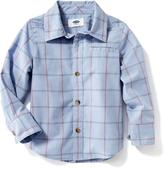 Old Navy Plaid Button-Front Shirt for Toddler