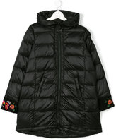 Simonetta floral embroidery padded coat