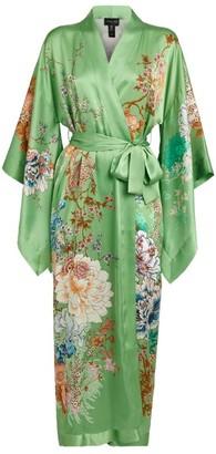 MENG Long Silk Floral Kimono