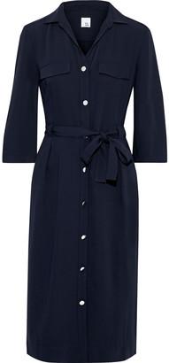 Iris & Ink Willow Belted Cady Shirt Dress