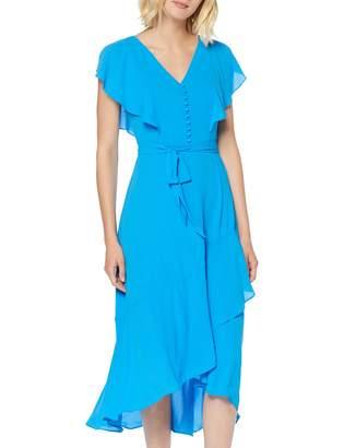 Karen Millen Women's Fluid & Draped Button Front Dress Party