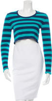 Torn By Ronny Kobo Striped Crop Top w/ Tags