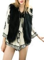 Simplee Apparel Simplee Women's Winter Warm Fluffy Sleeveless Faux Fur Vest Jacket Outwear