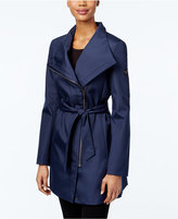 Calvin Klein Asymmetrical Belted Water-Resistant Trench Coat