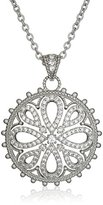 "Freida Rothman Gramercy"" Collection Silver Large Love Knot Medallion Necklace"