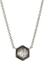 Cathy Waterman Women's Hexagonal-Bezel Pendant Necklace