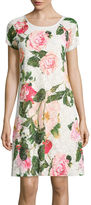 Ronni Nicole RN Studio by Cap-Sleeve Floral Print Lace Shift Dress