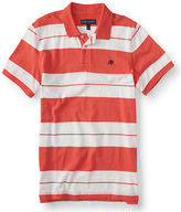 Aeropostale Mens A87 Bar Stripe Jersey Polo Shirt