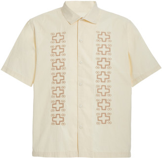 Universal Works Embroidered Cotton-Poplin Shirt