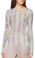BCBGMAXAZRIA Agda Floral Print Top