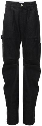 ATTICO Cotton Denim Wide Leg Jeans