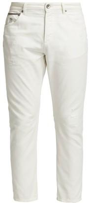 Brunello Cucinelli Distressed Cotton Jeans