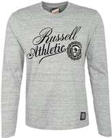 Russell Athletic Long Sleeved Top Grey Melange