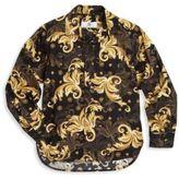 Versace Toddler's & Little Boy's Printed Button-Front Shirt