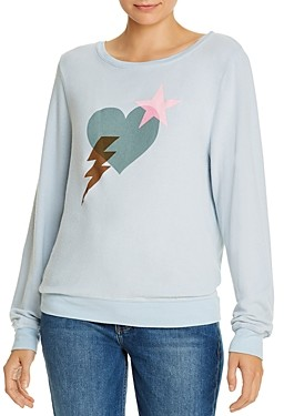 Wildfox Couture Baggy Beach Love Bolt Sweatshirt - 100% Exclusive
