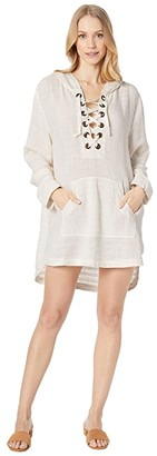 L-Space Love Letters Tunic Cover-Up (Cream) Women's Swimwear