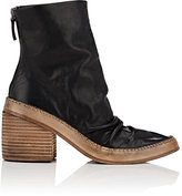 Marsèll Women's Wrinkled-Vamp Leather Ankle Boots
