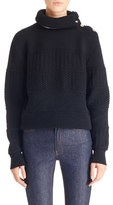 Givenchy Women's Removable Collar Wool Blend Sweater