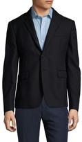 Prada Wool Solid Notch Lapel Sportcoat