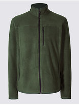 M&s Collection Pure Cotton Fleece Lined Hooded Jacket