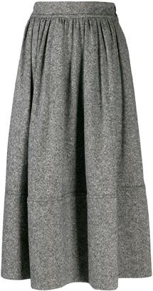 Holland & Holland Mid-Length Pleated Skirt