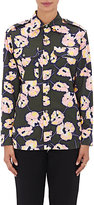 Marni Women's Floral Cotton Safari Shirt-DARK GREEN