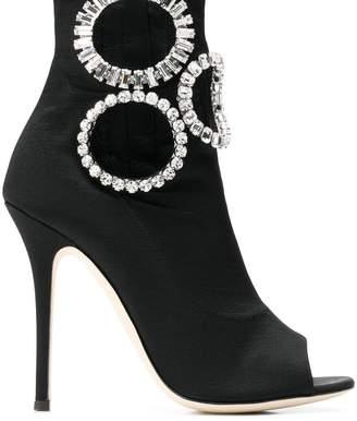 Giuseppe Zanotti crystal embellished heeled boots