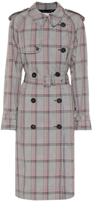Stella McCartney Check wool-blend coat