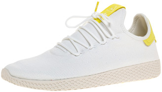 adidas White Cotton Knit Pharrell Williams Tennis Hu Sneakers Size 46