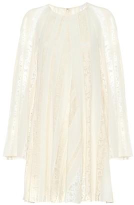 Chloé Lace-striped minidress