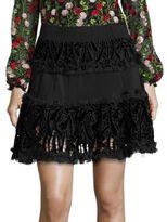 Alexis Antonnia Velvet Flare Mini Skirt
