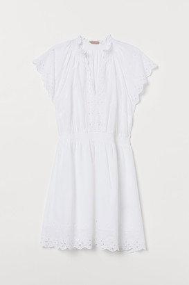 H&M H&M+ Embroidered cotton dress