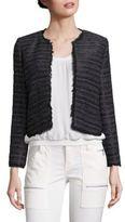 Joie Evren Metallic Striped Tweed Jacket