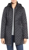 Laundry by Shelli Segal Women's Quilted Hooded Coat