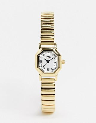 Limit Octagonal expanding bracelet watch in gold