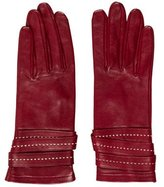 Longchamp Layered Leather Gloves